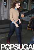 Kristen Stewart left lunch in NYC.