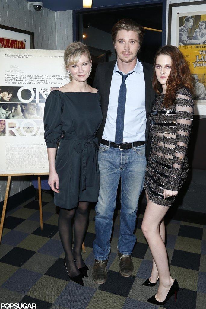 Kirsten Dunst, Garrett Hedlund, and Kristen Stewart promoted On the Road.