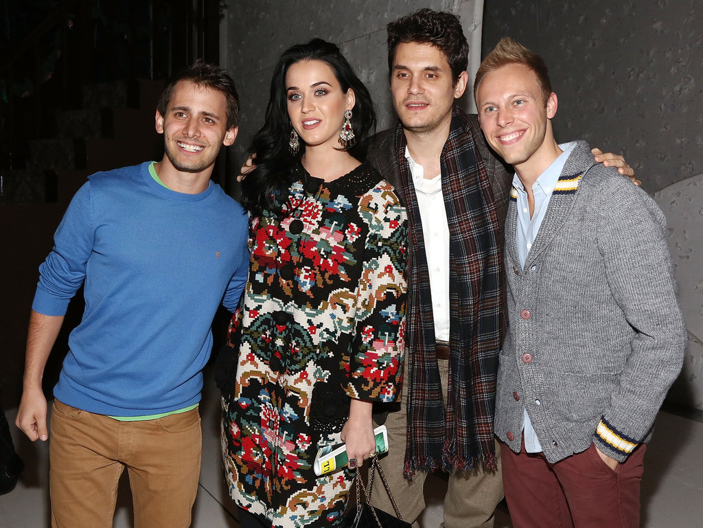 Katy Perry and John Mayer posed with cast members.