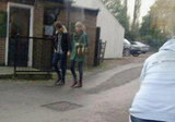 Taylor Swift and Harry Styles walked together while holding hands. Source: Twitter user Magda