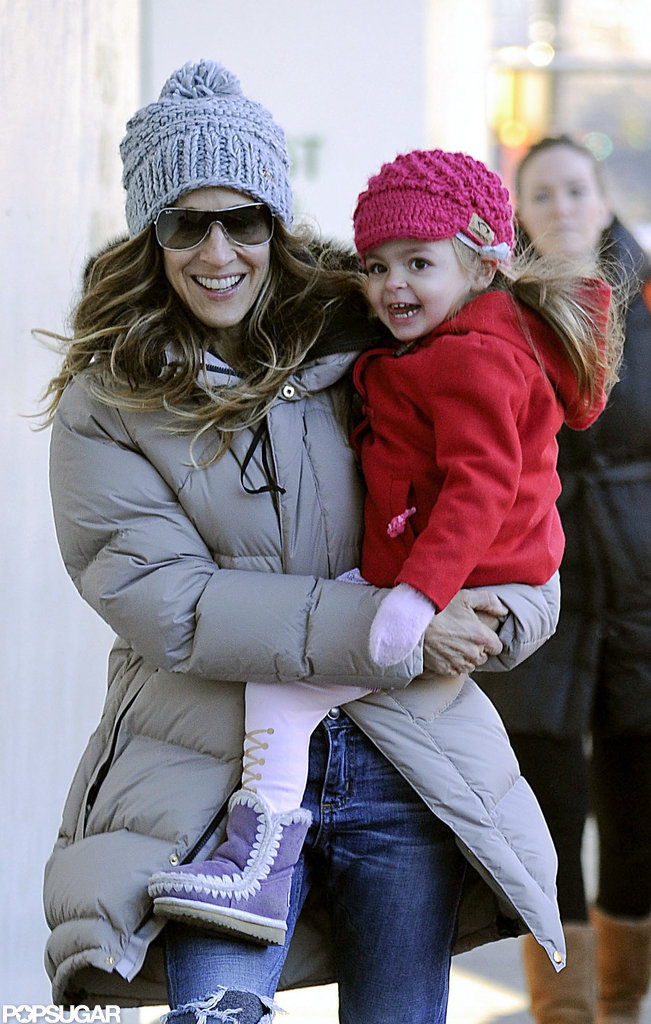 Sarah Jessica Parker carried her daughter Tabitha Broderick.