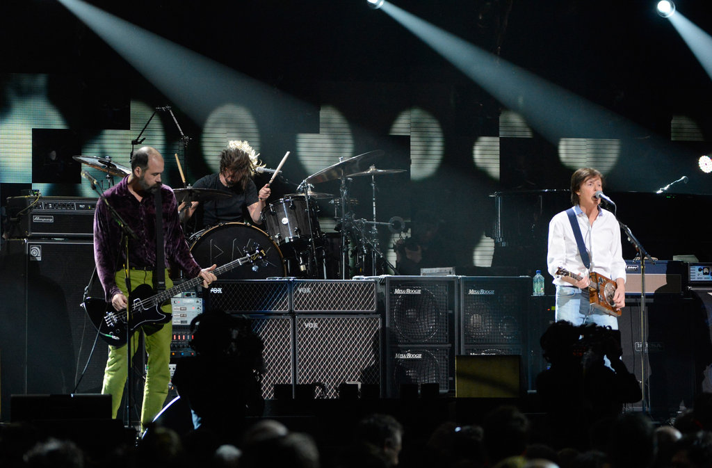 Paul and Nirvana Play the 12/12/12 Show With Kanye, Chris, and More Stars