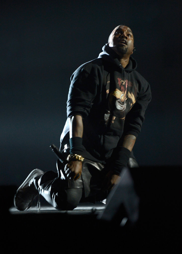 Kanye West was on stage to perform at the concert in NYC.