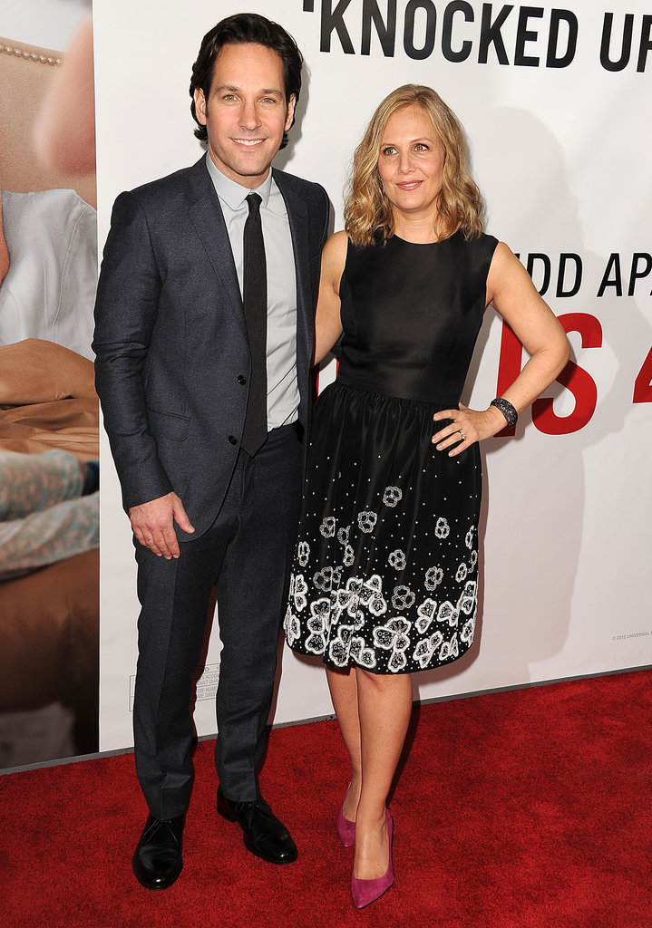 Paul Rudd posed with his wife Julie Yaeger.