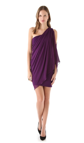 The beautiful eggplant hue on this Alice + Olivia Drape One Shoulder Dress ($208, originally $297) is begging to be worn with your sleek gold jewels for that Grecian-goddess vibe.