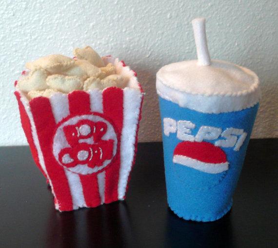 Kinsey Krafts Movie Theatre Felt Toys ($17)