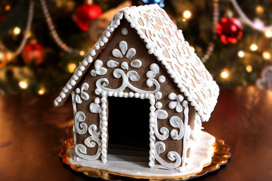 Gable-Roofed Gingerbread House