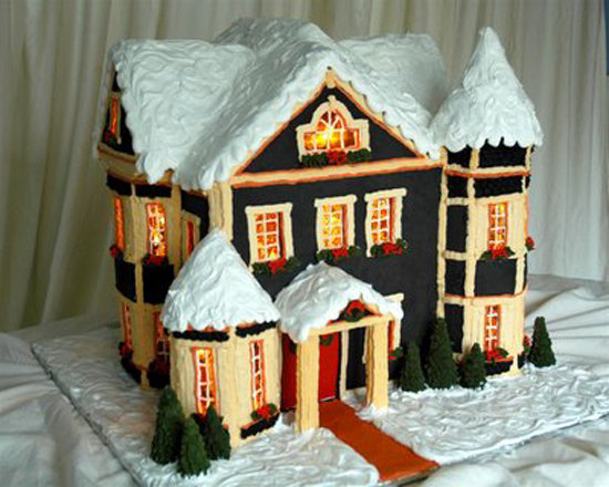 Snow-Capped Gingerbread House