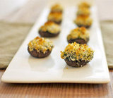 Mushrooms Stuffed With Creamy Spinach and Artichoke Filling