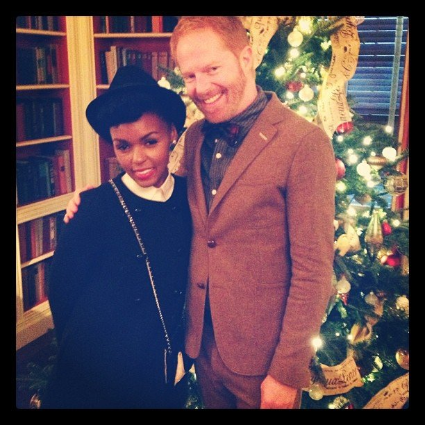 Jesse Tyler Ferguson posed with Janelle Monáe at the White House Holiday Party. Source: Instagram user jessetyler