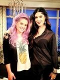 Kelly Osbourne posed with Kat Von D on the set of Fashion Police. Source: Twitter user MissKellyO