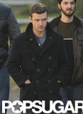 Justin Timberlake kept his hands in his pockets between takes.