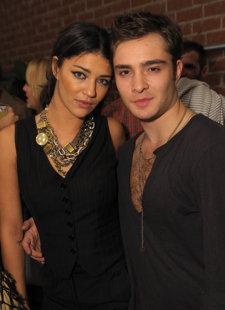 Real-life loves Jessica Szohr and Ed Westwick at an October 2009 Rag & Bone event held in LA.