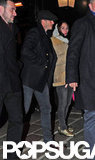 David Beckham went out with friends in London.