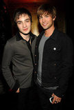 Ed Westwick and Chace Crawford posed for a photo in May 2007.