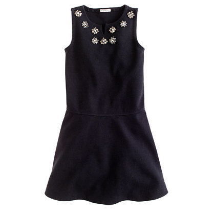 Your little girl will feel like a glamour queen in J.Crew's jeweled flared dress ($60, originally $88) — a versatile option she could wear long after the holidays are over.
