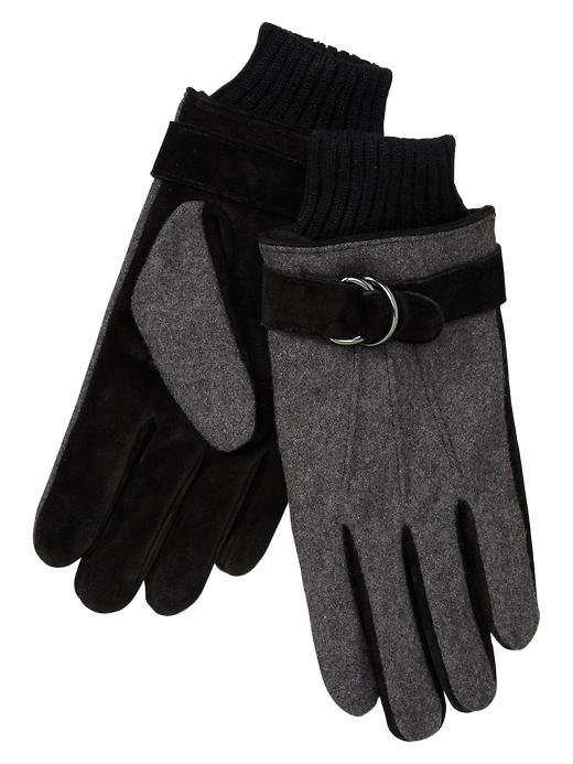 These knit suede gloves ($40) are a versatile pick he can wear with anything.
