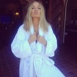 Lara Bingle got sexy in a robe. Source: Instagram user mslbingle