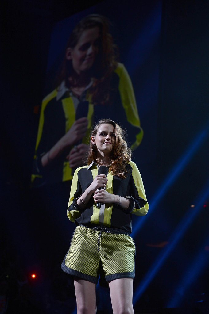 Kristen Stewart did a spot of presenting at the 12-12-12 concert — which was organised to help victims of Hurricane Sandy — in New York on December 12.