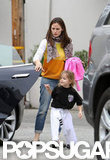 Jennifer Garner picked Seraphina Affleck up from karate.