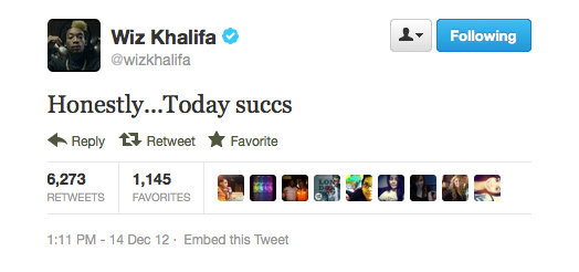 Seems like Wiz was feeling a little blue yesterday. . .