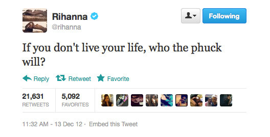 That's a good question, Rihanna!