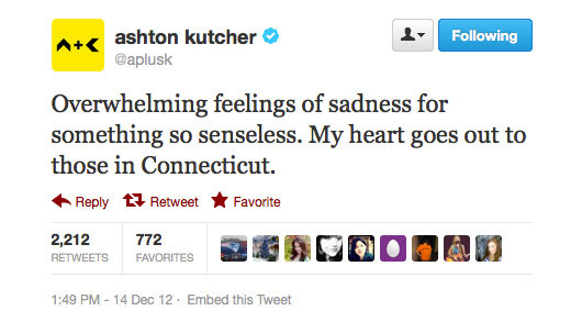 Ashton Kutcher spreads the love.