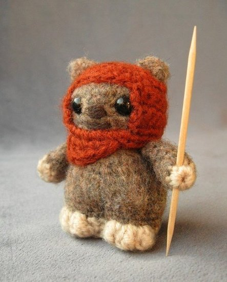 The toothpick spear is what makes this Ewok ($4) come to life.