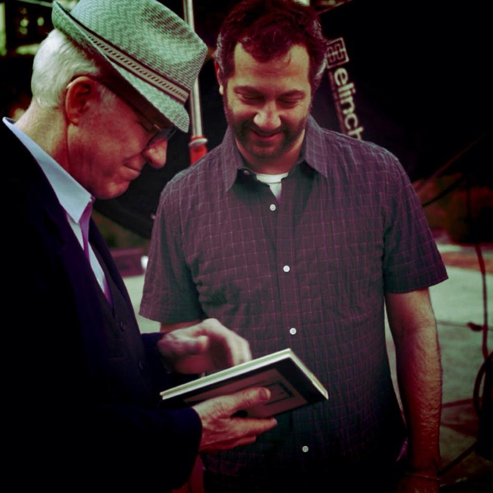 Judd Apatow showed Steve Martin the book he signed for him when he was 13. Source: Twitter user JuddApatow