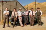 Giovanni Ribisi, Josh Brolin, Ryan Gosling, Anthony Mackie, Michael Peña, and Robert Patrick in Gangster Squad.