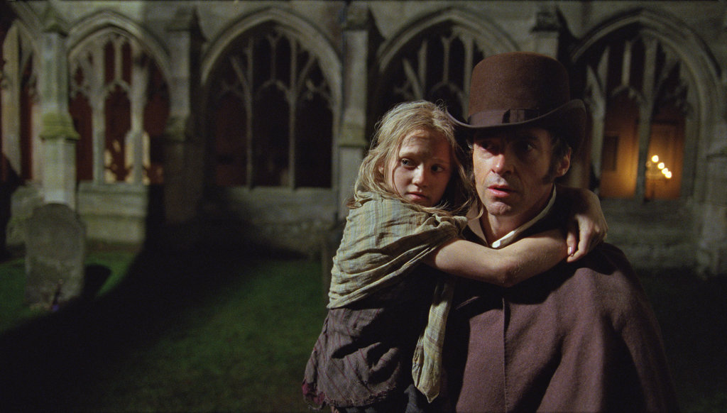 Isabelle Allen and Hugh Jackman in Les Misérables.