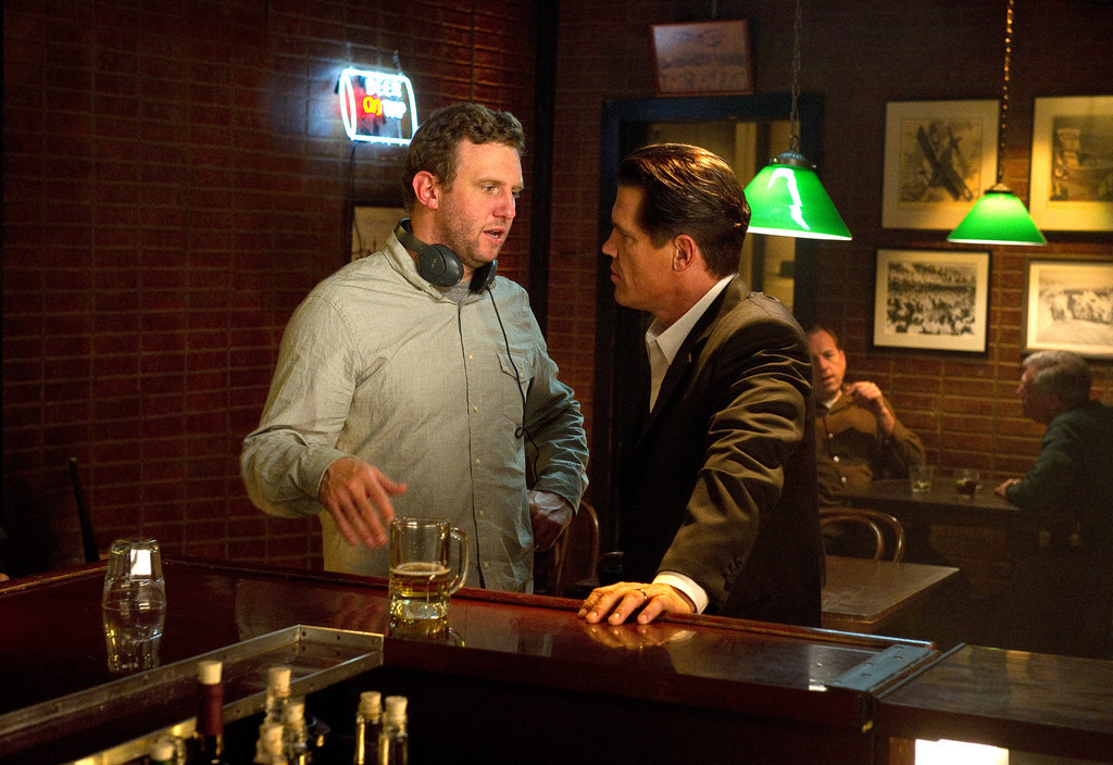 Director Ruben Fleischer and Josh Brolin in Gangster Squad.