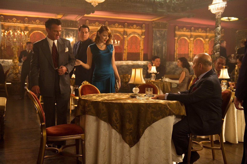 Sean Penn and Emma Stone in Gangster Squad.