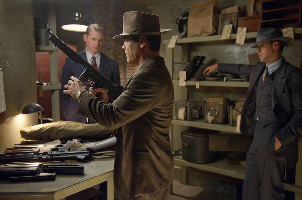 Josh Brolin and Ryan Gosling in Gangster Squad.
