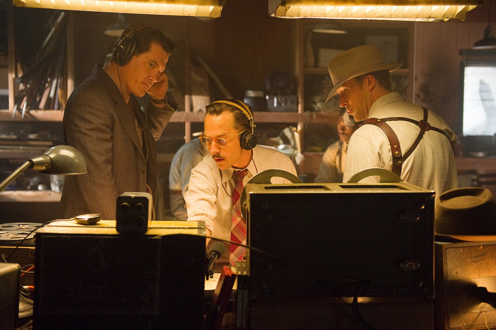 Josh Brolin, Giovanni Ribisi, and Ryan Gosling in Gangster Squad.