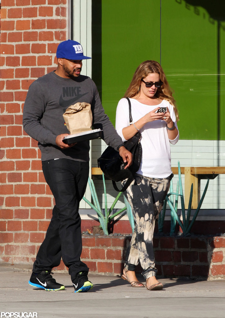 CaCee Cobb and Donald Faison grabbed lunch to go.
