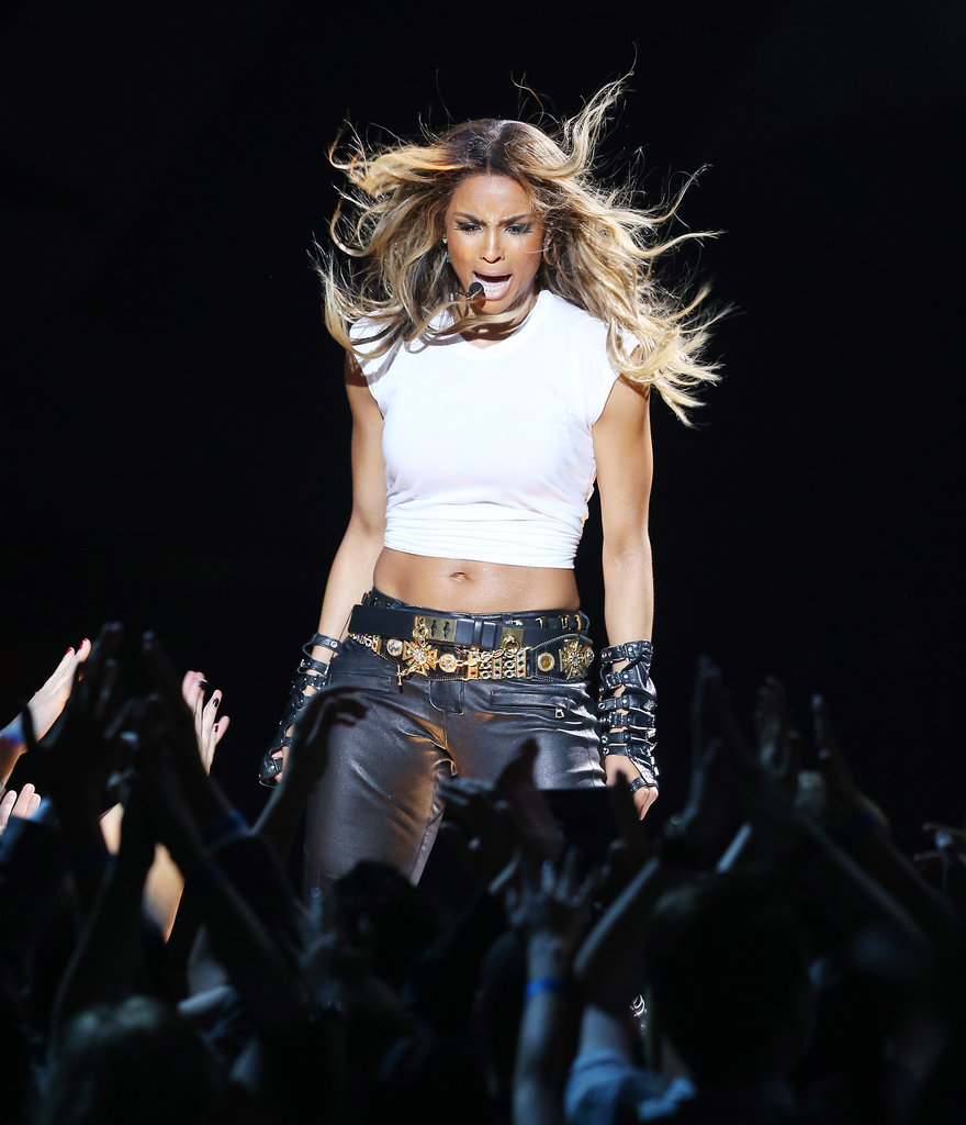 Ciara performed onstage.