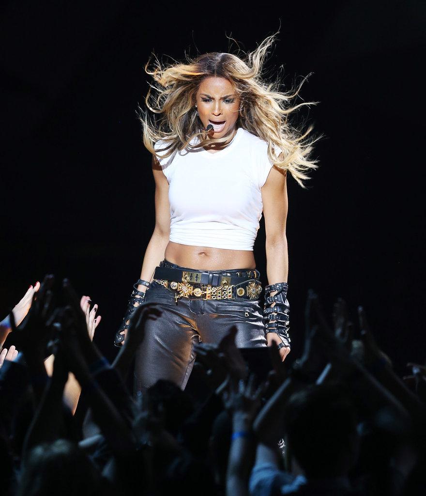 Ciara performed onstage.