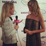 "Heidi Klum talked up her Babies""R""Us line in NYC."