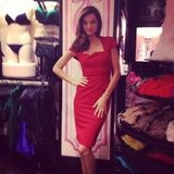 Miranda Kerr struck a sexy pose during a Victoria's Secret event in NYC.