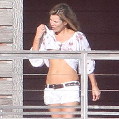 Kate Moss on Vacation in St. Barts | Pictures