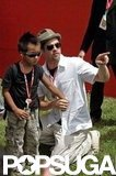 Brad Pitt and Maddox took in the sights of Italy in June 2008.