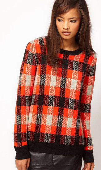 Plaid never looked so good. How cute is ASOS's checkered knit sweatshirt ($60)?