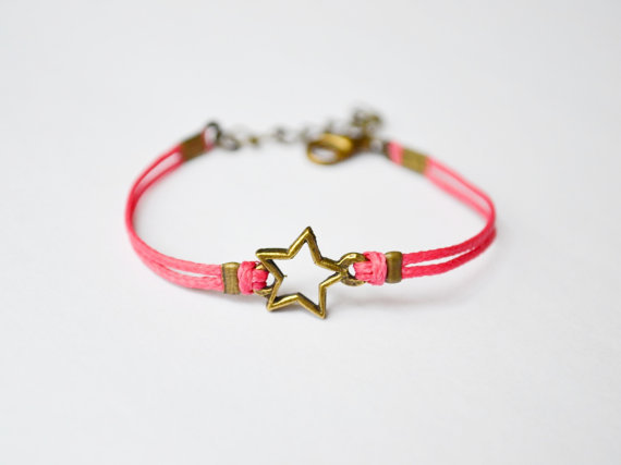 The Bubble Gum Corner Star Bracelet
