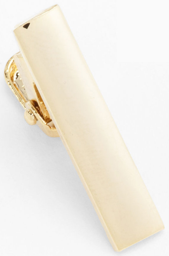 A polished gold finish gives this metal tie bar ($15) a dapper look — perfect for fancy holiday occasions.