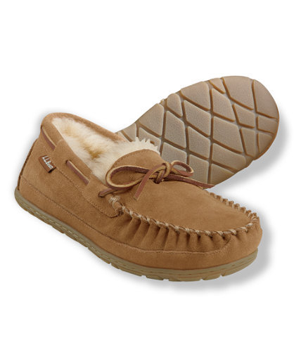 Keep his feet warm and cozy this Winter with these shearling-lined moccasins ($69).