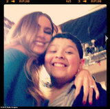 Sofia Vergara hugged her costar Rico Rodriguez. Source: Sofia Vergara on WhoSay