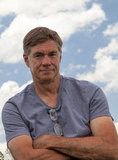 Director Gus Van Sant on the set of Promised Land.