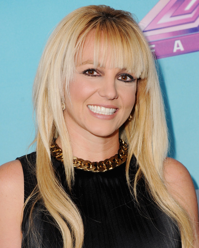 Britney Spears smiled at he press conference.