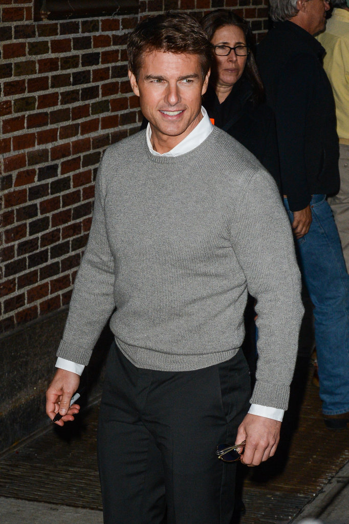 Tom Cruise arrived at the Late Show in NYC.